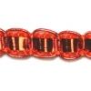 "Metallic 1/4"" Single Box Braid Orange"